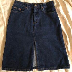 Vintage high waisted Jordache denim skirt